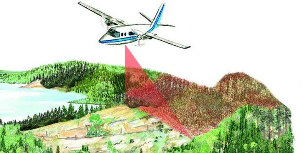 Skogsnäringen satsar på laserskanning – till gagn för skogsägaren