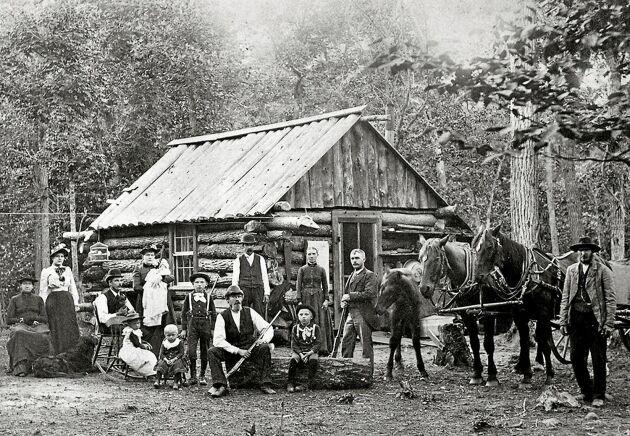 EFTERFÖLJARE. Peter Cassel inspirerade tusentals svenskar att utvandra. Här svenskamerikaner i Minnesota på 1880-talet.