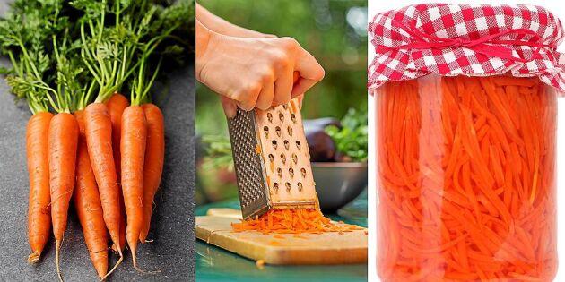 Tarmens favorit: Supergoda mjölksyrade morötter