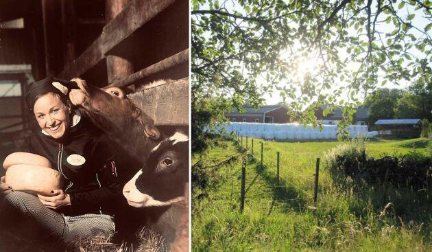 Elin Edlund är sjätte generationens mjölkbonde.