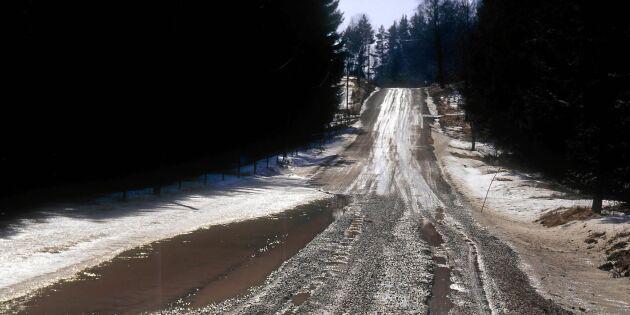Väldigt stora vinterskador på vägarna i vår