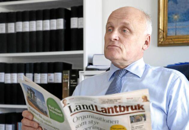"""När Jan-Mikael Bexhed läser Land Lantbruks artikel om Naturskyddsföreningens statsfinansierade miljöjurister blir han både förvånad och upprörd. """"Det här borde tas upp till en politisk diskussion"""", säger han."""
