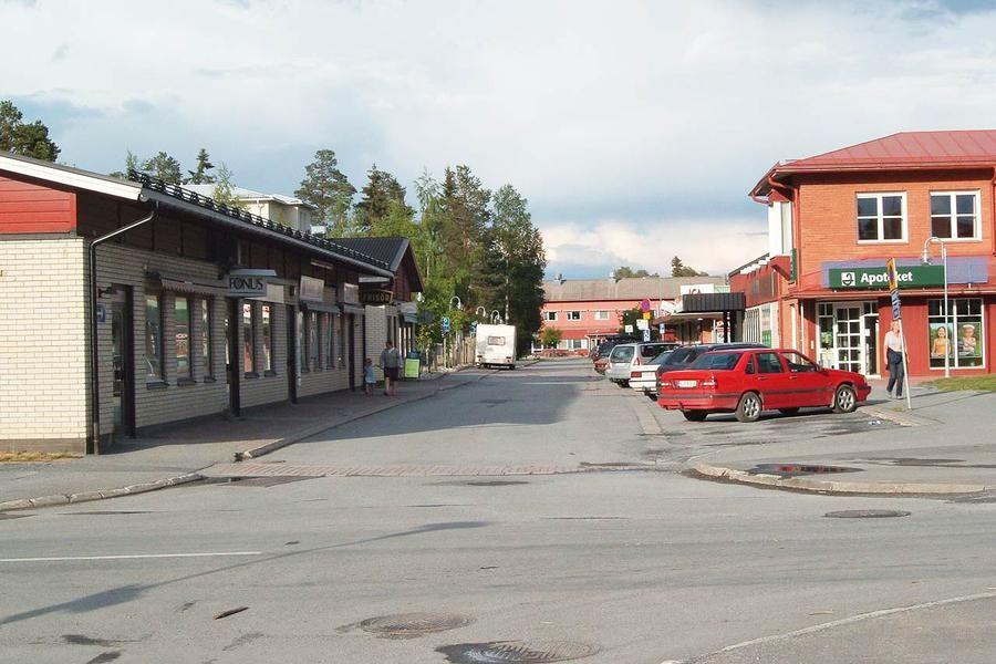 Krokoms centrum. Foto: Wikimedia/Jörgen Blom.