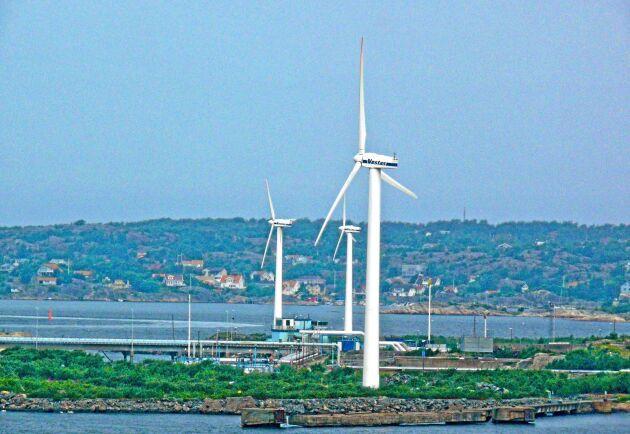 Det blåste svaga vindar under juli månad.