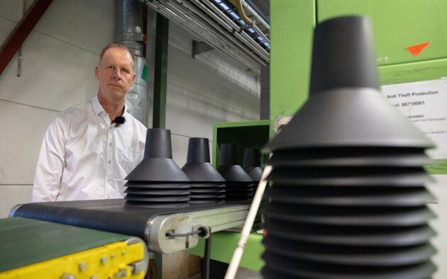 Novefellan tillverkas hos Talent Plastics I Gislaved där Göran Nilsson är vd.