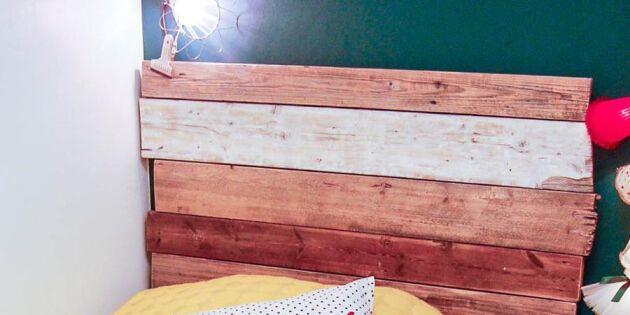 Gör en sänggavel med plankor