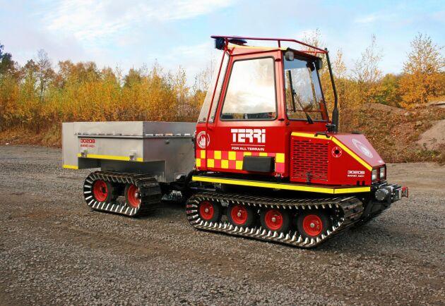 Terris konceptmaskin kan utrustas med en pump och vattentank på 1200 liter, och kan enkelt lastas upp på ett bilsläp för snabb transport. Med ett vanligt släckmedel går det att få sju gånger så stor släckvolym.
