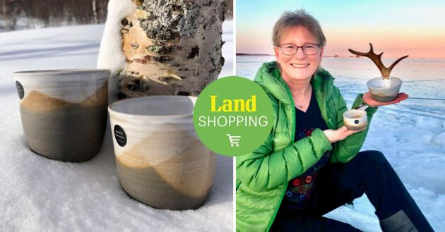 Jeanette Hultdin skapar keramik i stengodslera med inslag av renhorn, rotslöjd och symboler. Varje föremål blir unikt.