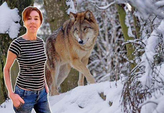 """Gölin Carina Christiansen, författare och frilansskribent, som skrivit boken """"Vargen och statsmakten""""."""