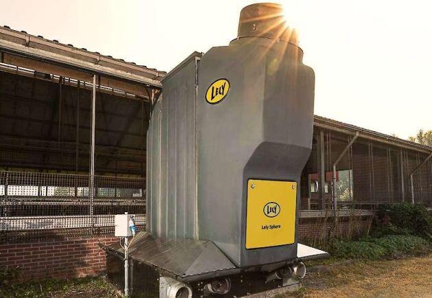 Praktiska tester visar att varje ko producerar 10 till 20 kilo kväve som enklare ska kunna tas till vara med hjälp av Lely Sphere.