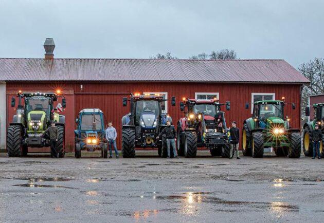 Till paraden under torsdagen räknar Axel Stjernkvist att det ska vara ett 20-tal traktorer.