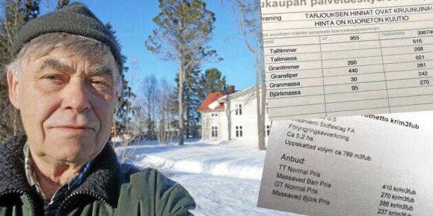 Tjänar mer på att sälja timret till Finland