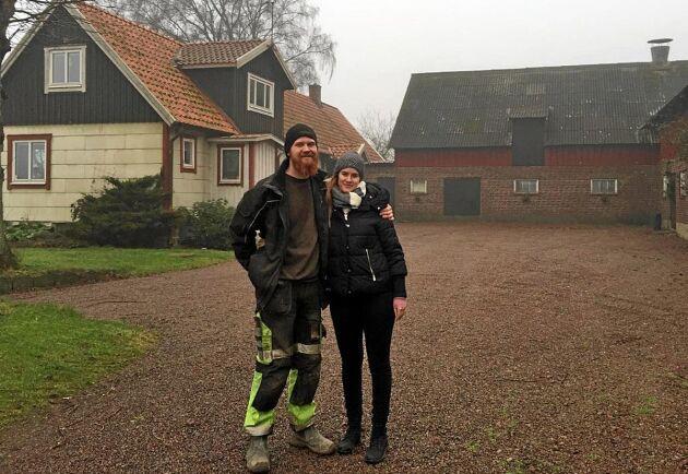 Tor Pålsson och sambon Johanna Kiendl ska satsa på en gårdsbutik utanför Båstad.