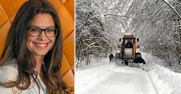 Vägföreningarna har inte råd med snöröjningen längre och orsaken är Trafikverket, skriver Helena Lindahl riksdagsledamot från Västerbotten (C).