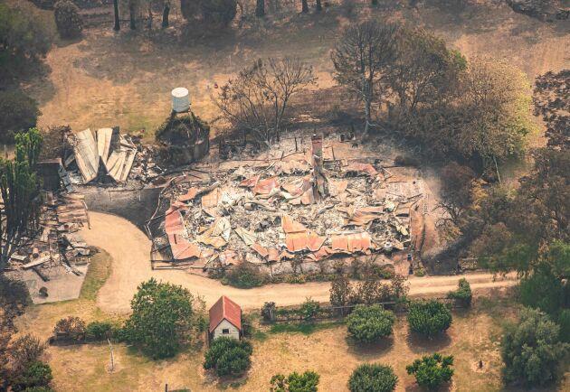 En förstörd egendom i East Gippsland.