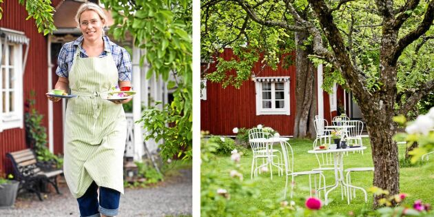 Så startade Sara café hemma i sin egen trädgård!