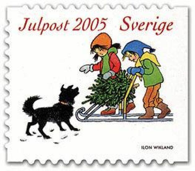 Julfrimärke av Ilon Wikland 2005.