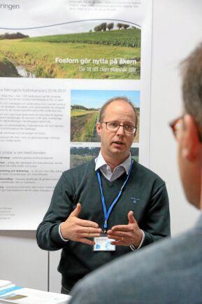 Markus Hoffman är expert på vatten och växtnäring på LRF.