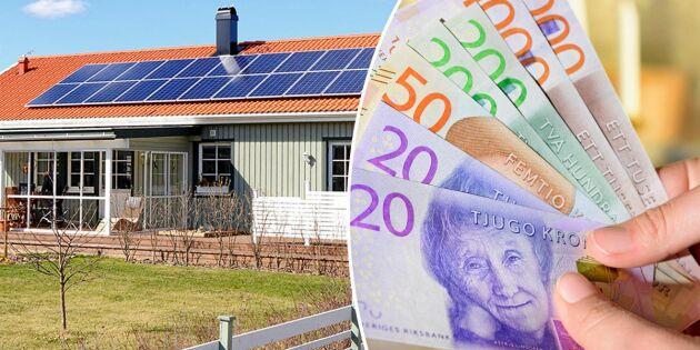 Här är stöd och avdrag du kan få om du väljer att installera solceller