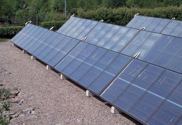 Solkraftverk i Ingelstad. Arkivbild.