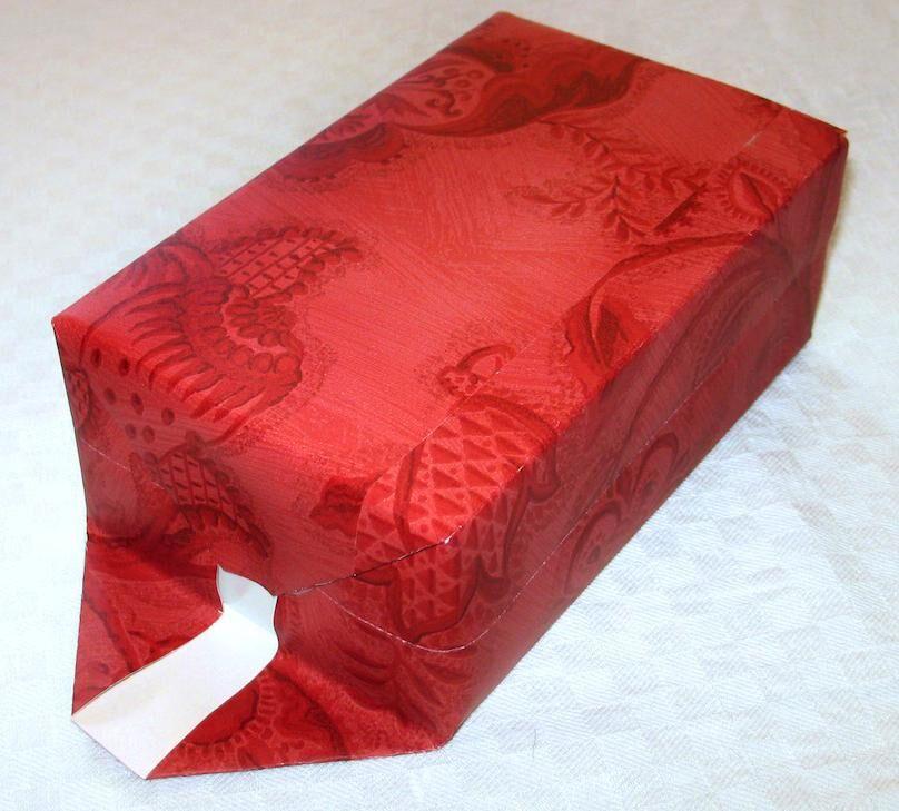 Presentpåsar och presentkurvert gjorda av tapetrester Drömhem & Trädgård 1/07