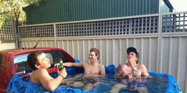 Förvandla pickupen till en pool