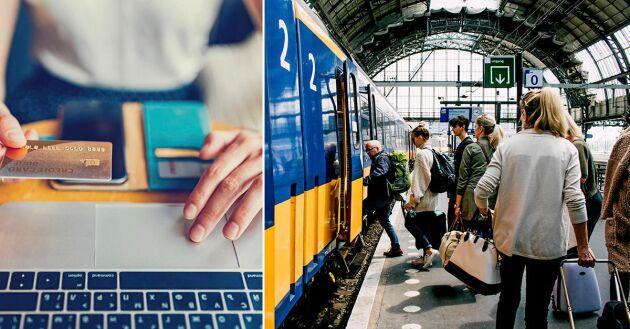 Sajterna för att söka, boka och jämföra priser på tågbiljetter utomlands.