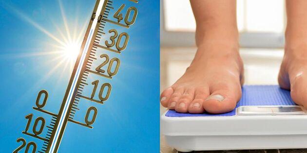 Därför går du upp i vikt när det är varmt – och så kan du undvika det!
