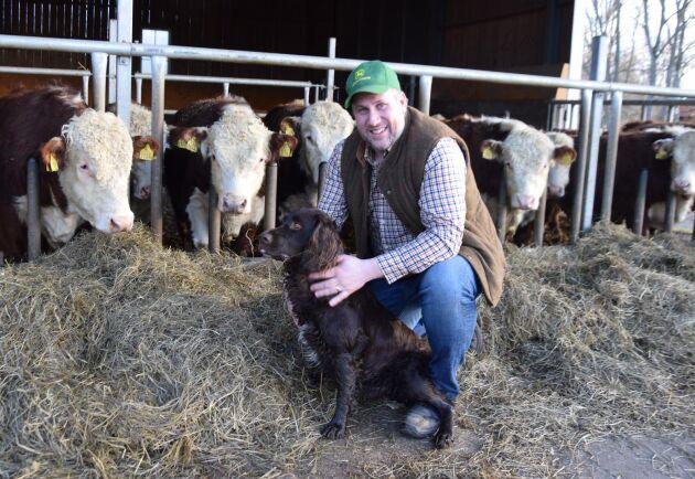 John Widegren, Moderaternas nye landsbygdspolitiske talesperson, är köttbonde från Östergötland.