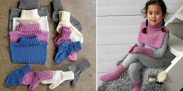 Sockor, vantar och krage – sticka till hela familjen