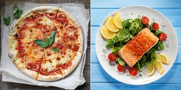 18 vanliga livsmedel: Så mycket får du för 500 kalorier