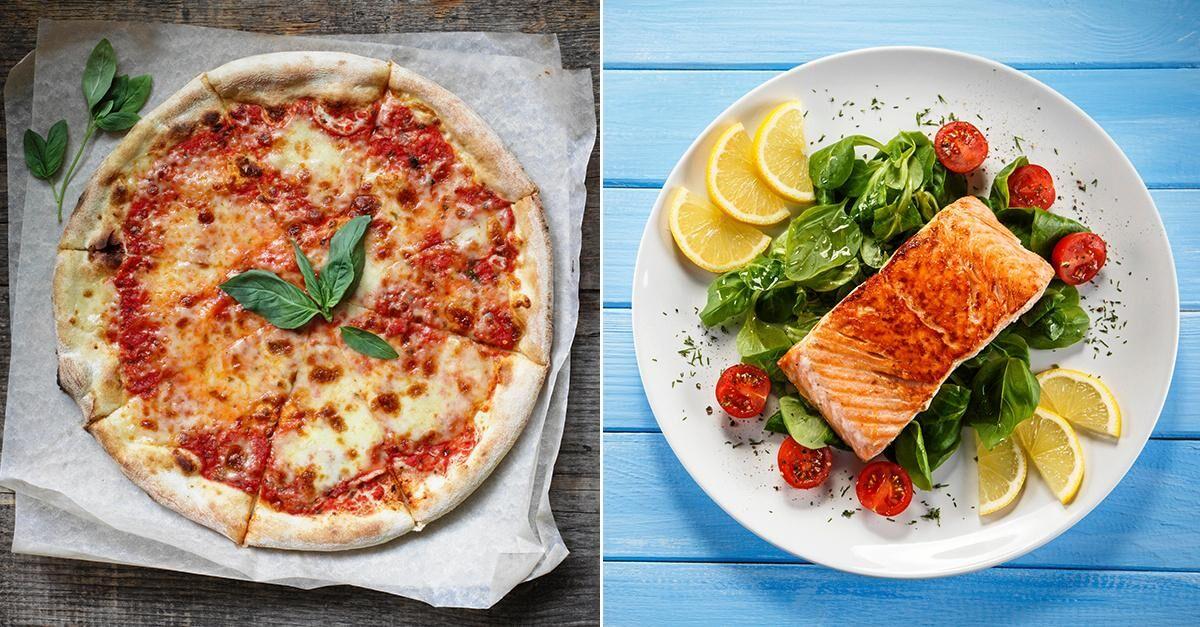 hur många kalorier innehåller en pizza