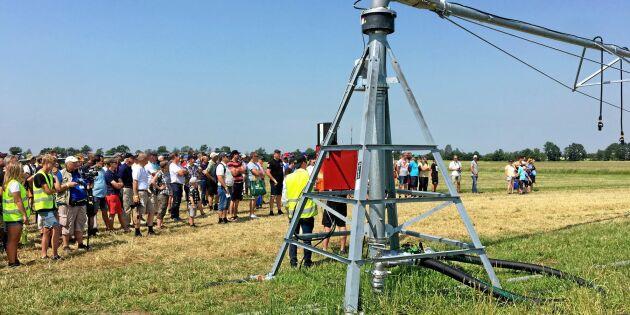 Demo av dränerings- och bevattningsmaskiner nytt på Borgeby