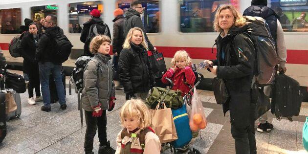 Karin tågluffade med fyra barn – här är hennes bästa tips!