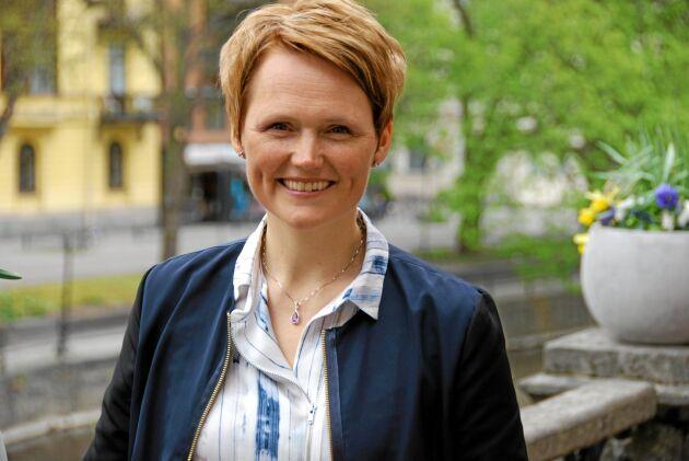 Anna Karin Hatt under sin tid som IT- och energiminister i alliansregeringen. Bilden är tagen på Mellanskogstämman 2014.