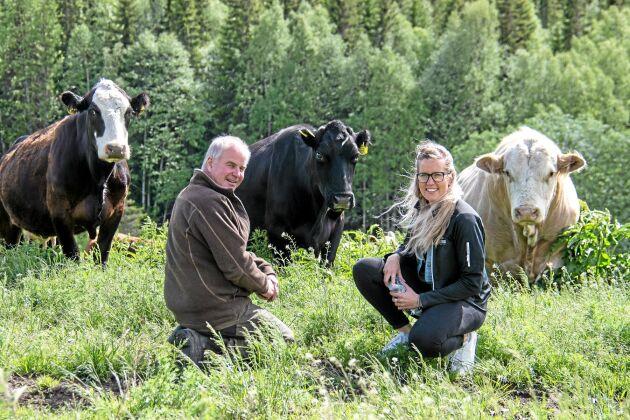 Anders Jörgensen driver Slåtte Naturbeteskött tillsammans med dottern Agnes.