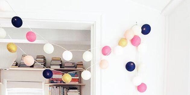 Dekorera dina fönster med ljusslingor