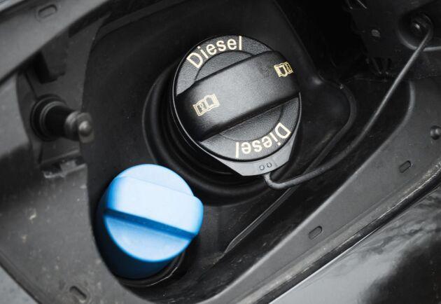 Riktpriset på diesel för företagskunder ligger nu på 16,28 kronor per liter. Arkivbild.