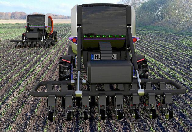 Simuleringar vid Rise har tidigare visat att två dragmaskiner med en effekt på 36 kilowatt och ett batteri på 113 kilowattimmar är tillräckligt för att driva allt arbete utom tröskningen på en mjölkgård på 200 hektar. Kanske gör testbädden att man kan börja testa delar av teorierna i praktiken.