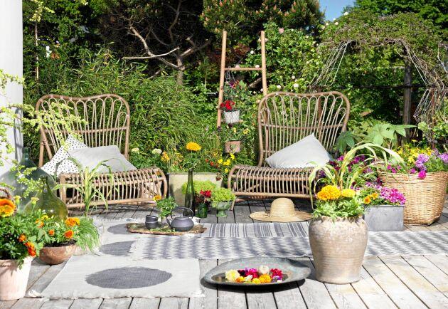 Vem behöver möbler när det finns blommor? Alla är dessutom flyttbara för extra flexibilitet.