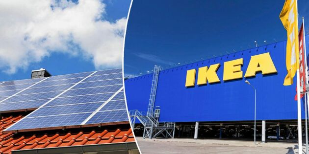 Ikea ska börja sälja solceller - kommer till Sverige i höst