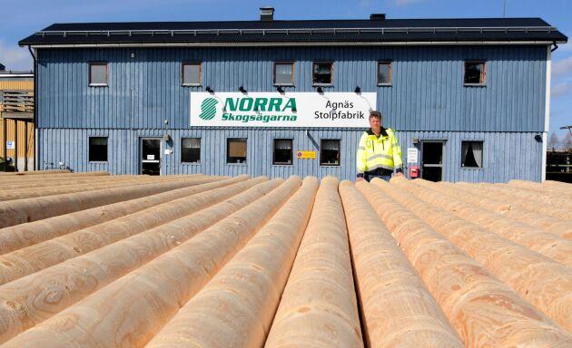 Norra Skogsägarnas stolpfabrik Agnäs i Bjurholm, Västerbotten.
