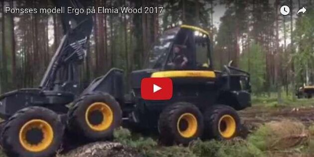 Ponsses Ergo showade på Elmia Wood