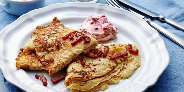 Falsk raggmunk med äpple och bacon – ljuvlig smakkombination!