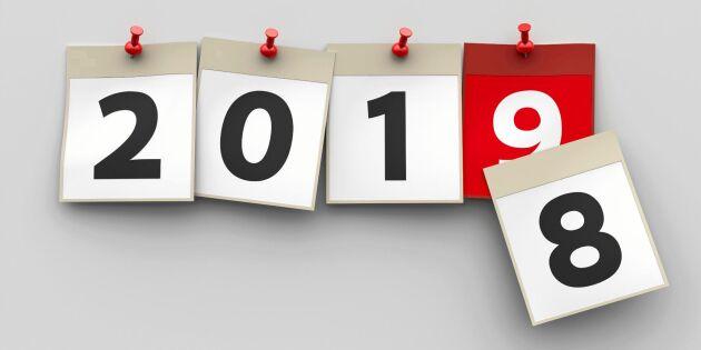 Planera ekonomin 2019 –här är datumen att ha koll på