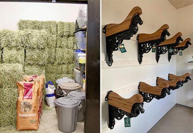 Fodret levereras direkt till foderrummet för att undvika damm och sadelkammaren är eluppvärmd.