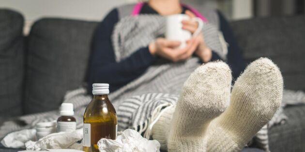 Folkhälsomyndigheten: Låg risk för influensa i vinter