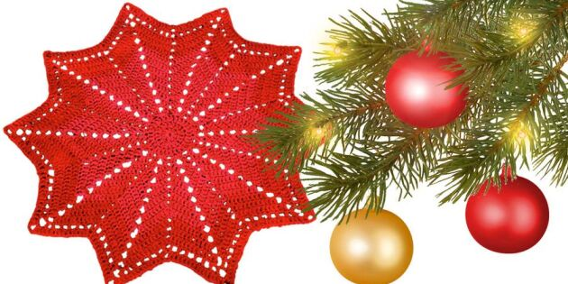 Återbruka pyjamasen! Virka en julgransmatta