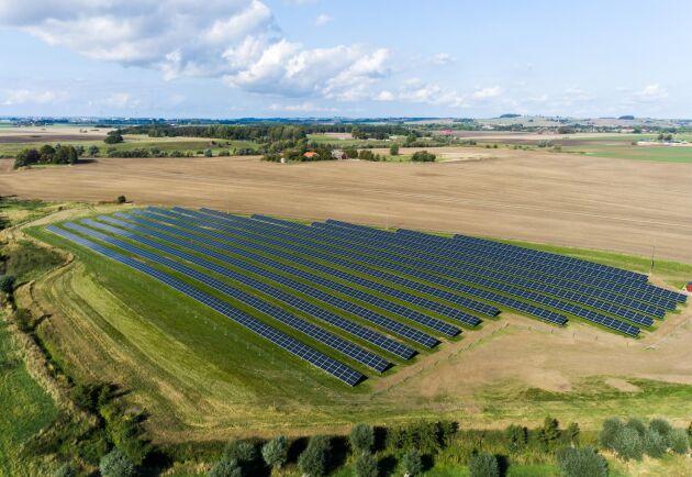 Avkastningen på den här lite krångliga ytan blir betydligt bättre med solceller.