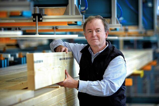 Rörvik krymper men ska enligt VD Per Rodert fortsätta verka för strukturförbättringar i sågverksbranschen i södra Sverige.